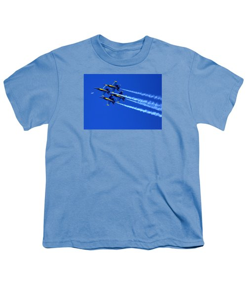 Thanks Goodness For That Fourth Dimension As A Boeing 767 Transitions Above The Box. Youth T-Shirt