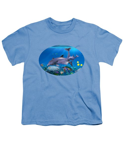 The Dolphin Family Youth T-Shirt by Glenn Holbrook