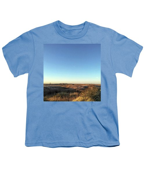 Thornham Marsh Lit By The Setting Sun Youth T-Shirt by John Edwards