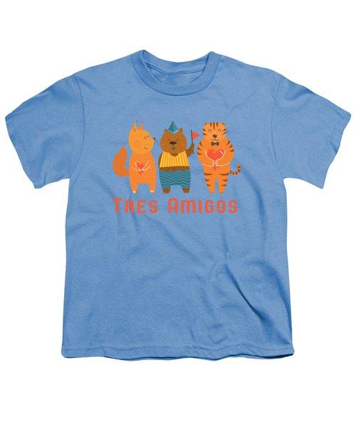 Tres Amigos Cute Animals Tee Youth T-Shirt