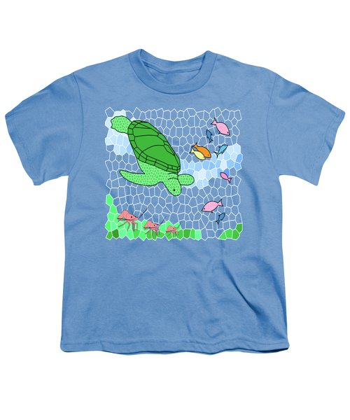 Turtle And Friends Youth T-Shirt by Methune Hively