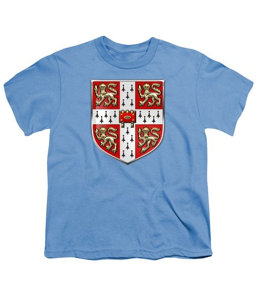 University Of Cambridge Seal - Coat Of Arms Over Colours Youth T-Shirt by Serge Averbukh
