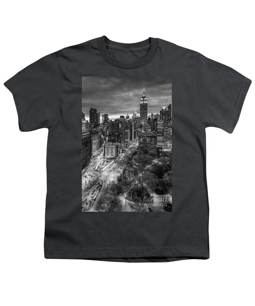 Flatiron District Birds Eye View Youth T-Shirt by Susan Candelario