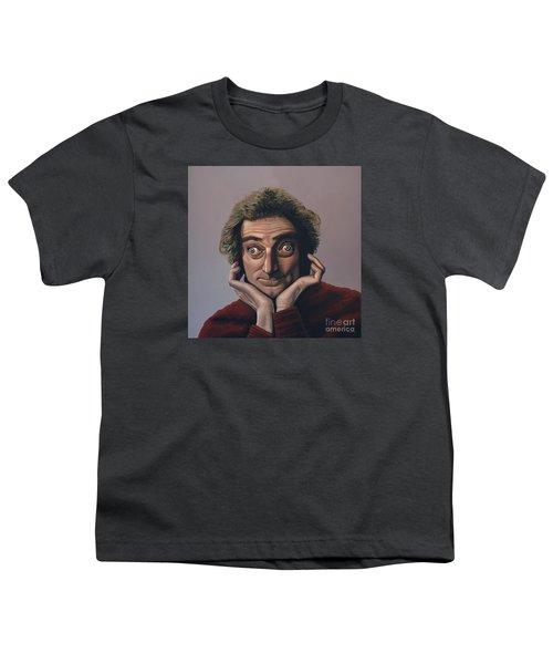 Marty Feldman Youth T-Shirt by Paul Meijering