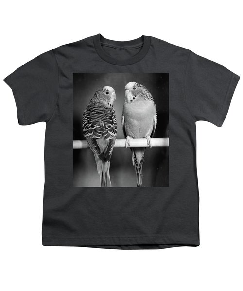 1960s Pair Of Parakeets Perched Youth T-Shirt