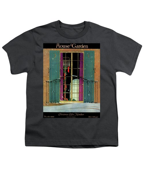 A House And Garden Cover Of A Christmas Youth T-Shirt