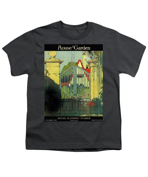 A House And Garden Cover Of A Gate Youth T-Shirt