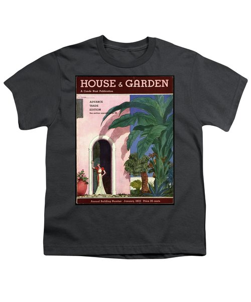 A House And Garden Cover Of A Woman In A Doorway Youth T-Shirt