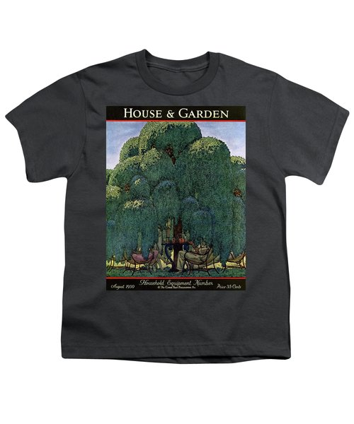 A House And Garden Cover Of People Dining Youth T-Shirt