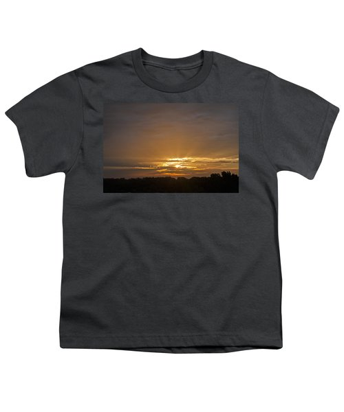 A New Day - Sunrise In Texas Youth T-Shirt