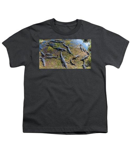 Alligators Along The Anhinga Trail Youth T-Shirt