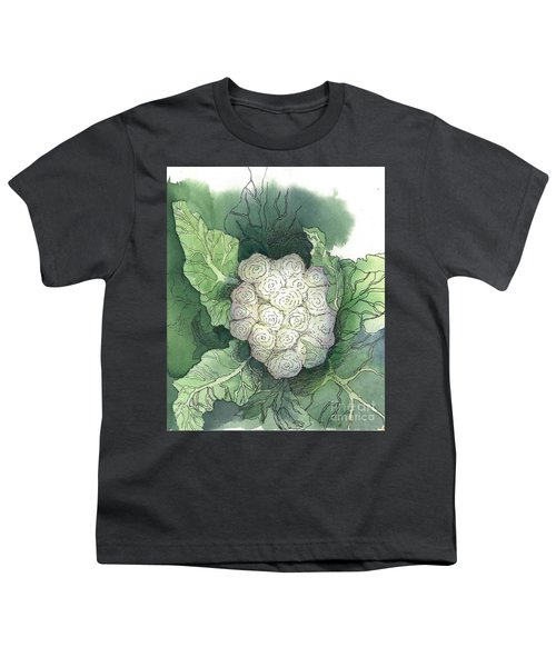 Baby Cauliflower Youth T-Shirt by Maria Hunt