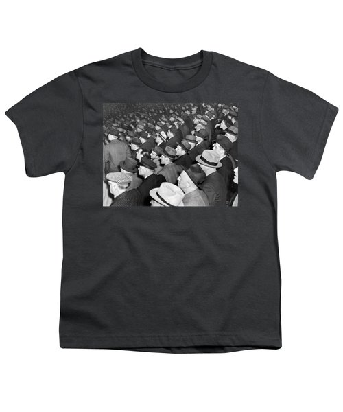 Baseball Fans At Yankee Stadium For The Third Game Of The World Youth T-Shirt by Underwood Archives