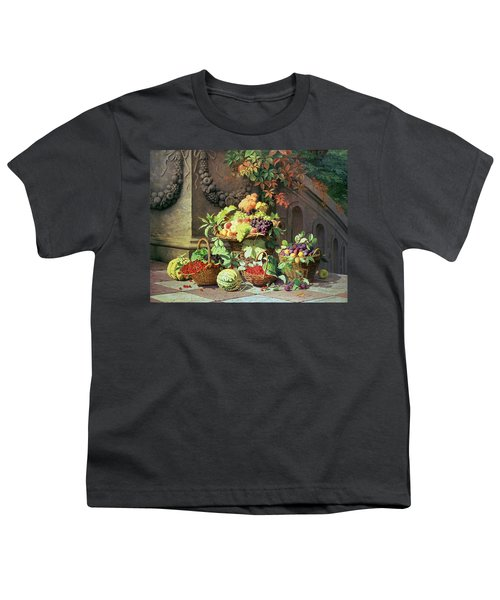 Baskets Of Summer Fruits Youth T-Shirt by William Hammer