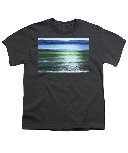 Blue Green Landscape Youth T-Shirt