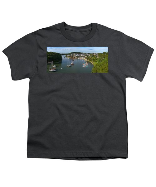Boats In The Sea, Le Bono, Gulf Of Youth T-Shirt by Panoramic Images