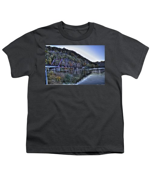 Youth T-Shirt featuring the photograph Bridge On A Lake by Jonny D