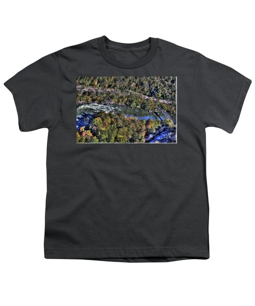 Youth T-Shirt featuring the photograph Bridge Over River by Jonny D