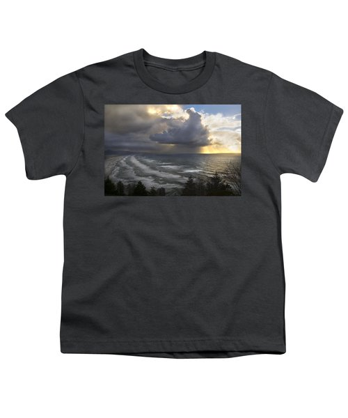 Sunset At Cape Lookout Oregon Coast Youth T-Shirt