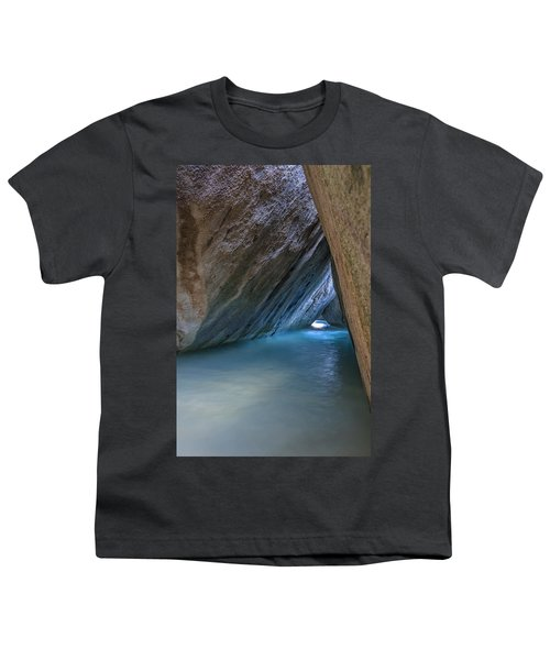Cave At The Baths Youth T-Shirt by Adam Romanowicz