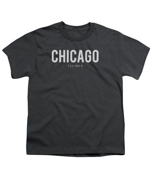 Chicago, Illinois Youth T-Shirt by Design Ideas
