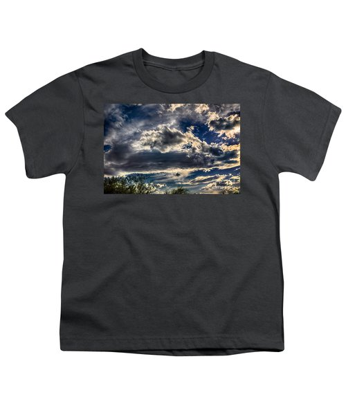 Youth T-Shirt featuring the photograph Cloud Drama by Mark Myhaver