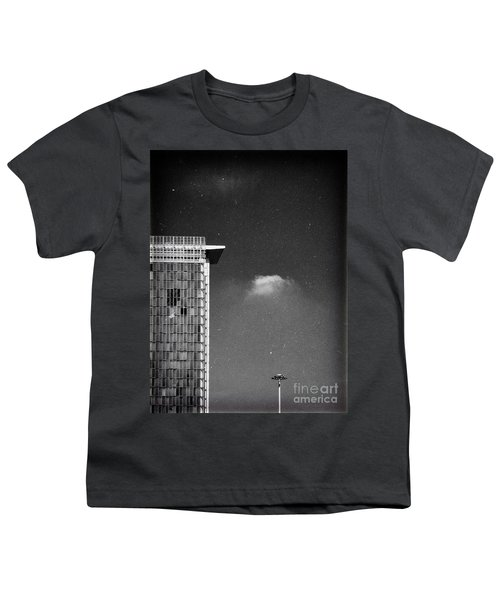 Youth T-Shirt featuring the photograph Cloud Lamp Building by Silvia Ganora