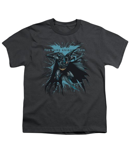 Dark Knight Rises - Blue Crackle Youth T-Shirt