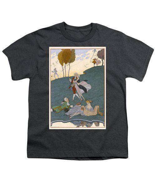 Fetes Galantes Youth T-Shirt by Georges Barbier