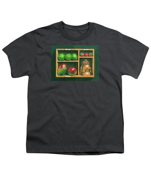 Fruit Shelf Youth T-Shirt by Brian James