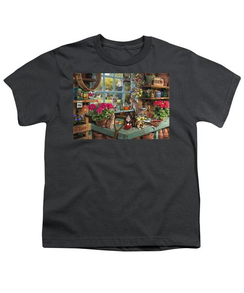 Grandpa's Potting Shed Youth T-Shirt by Steve Read