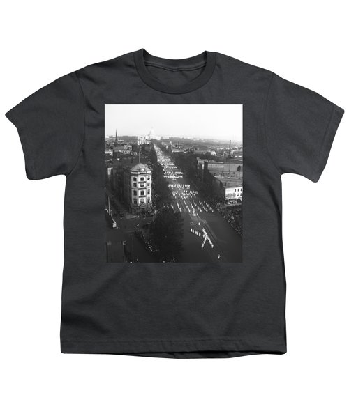 Ku Klux Klan Parade Youth T-Shirt by Underwood Archives