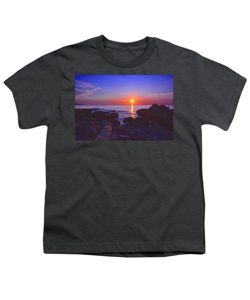 Maine Coast Sunrise Youth T-Shirt