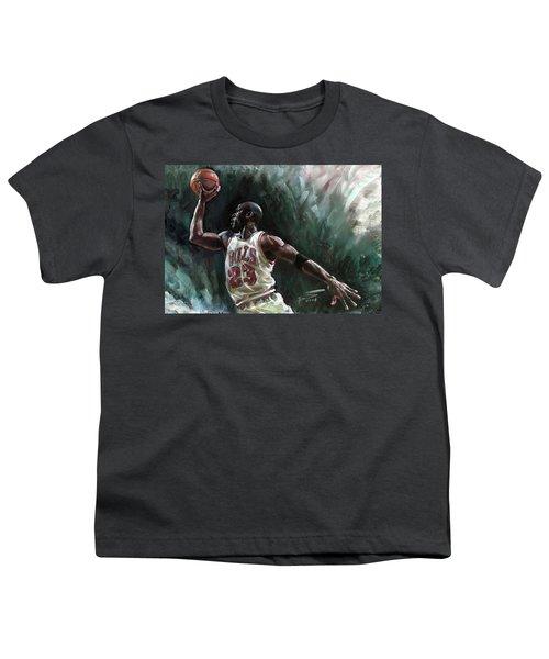 Michael Jordan Youth T-Shirt by Ylli Haruni