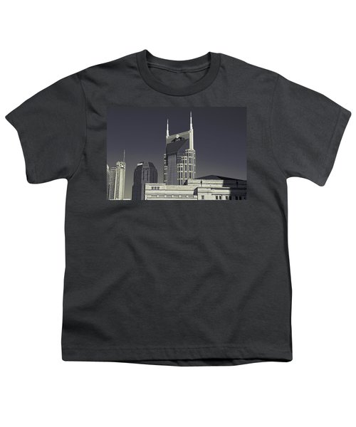 Nashville Tennessee Batman Building Youth T-Shirt
