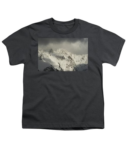 Youth T-Shirt featuring the photograph North Cascades Mountains In Winter by Yulia Kazansky