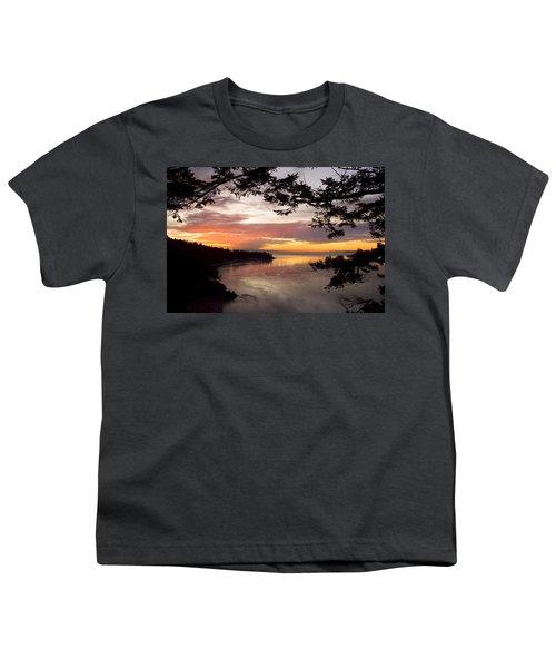 Ocean Sunset Deception Pass Youth T-Shirt