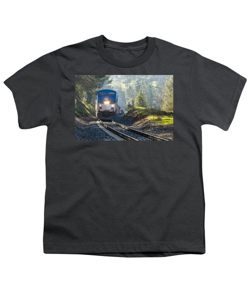 Youth T-Shirt featuring the photograph Out Of The Mist by Jim Thompson