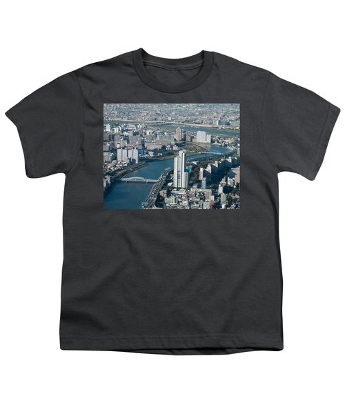 Panorama Of Tokyo Youth T-Shirt by Jill Mitchell