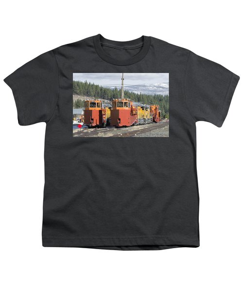 Youth T-Shirt featuring the photograph Ready For More Snow At Donner Pass by Jim Thompson