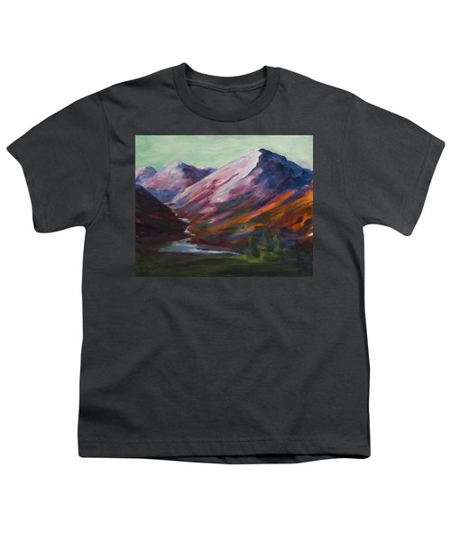 Red Mountain Surreal Mountain Lanscape Youth T-Shirt