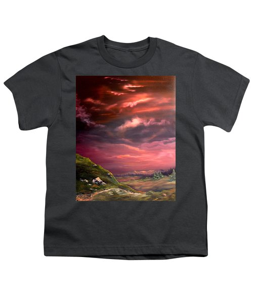 Red Sky At Night Youth T-Shirt by Jean Walker