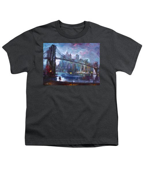 Romance By East River II Youth T-Shirt by Ylli Haruni