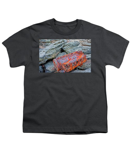 Youth T-Shirt featuring the photograph Shipwrecked ? by Miroslava Jurcik