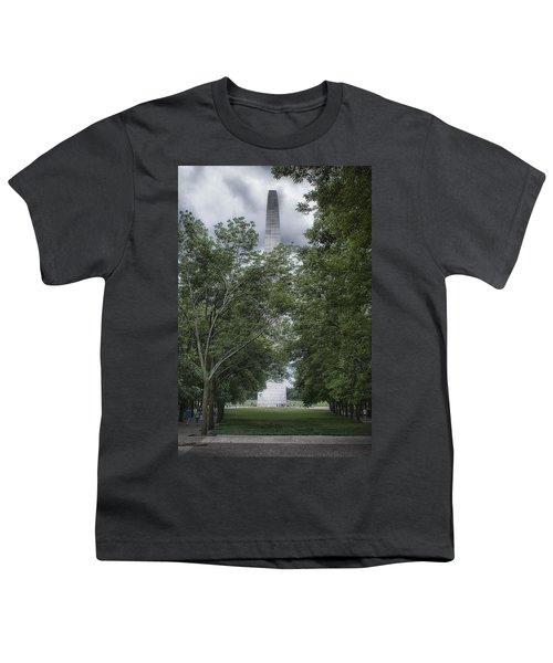 St Louis Arch Youth T-Shirt by Lynn Geoffroy