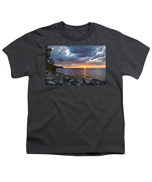 Sundown Bay Youth T-Shirt by Bill Pevlor
