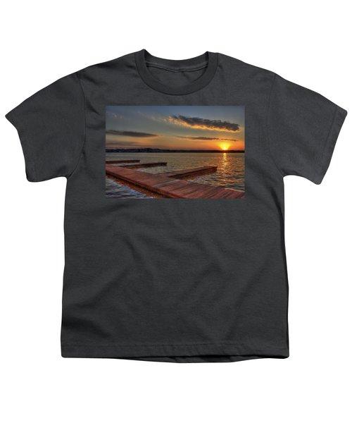 Sunset Docks On Lake Oconee Youth T-Shirt by Reid Callaway