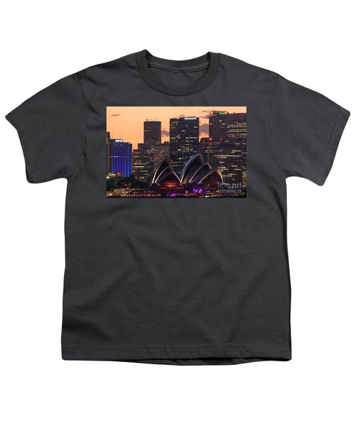 Sydney At Sunset Youth T-Shirt