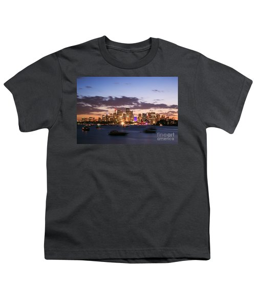 Sydney Skyline At Dusk Australia Youth T-Shirt