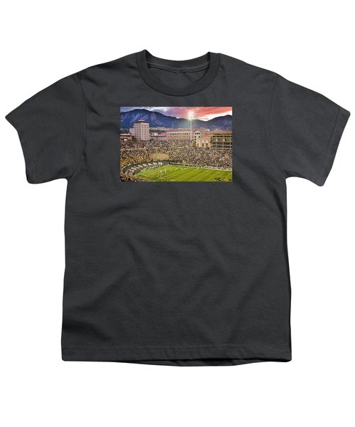 University Of Colorado Boulder Go Buffs Youth T-Shirt by James BO  Insogna